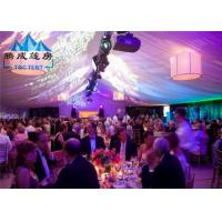 Quality Air Conditioned Wedding Marquee Tent , Rain Proof Canopy Party Tent With Church Window for sale