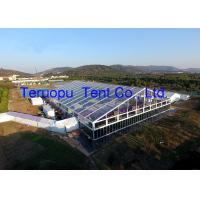 Beautiful Glass Marquee Tent With Clear Roof 50x70m For Party Wedding Event for sale