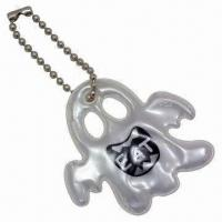 Quality Ghost-shaped Soft Reflectors in Silver, with Short Ball Chain for sale