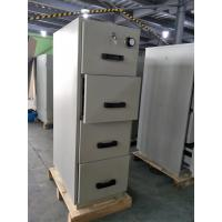 Quality Grey Steel Fire Resistant Filing Cabinets 4 Drawers For Valuable Records / Documents for sale