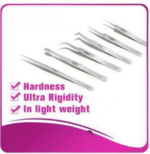 Silver Eyelash Extension Tweezers false eyelash applicator tool anti - scratch