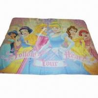 Quality Baby Cartoon Printed Fleece Blanket with 120 to 150cm Width for sale