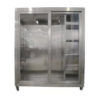 China Static Garment Cubicle assembly constructed from 304 stainless steel for clean room on sale
