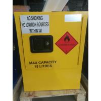 Quality Yellow Dangerous Goods Cabinets For Liquid , Industry Paint Safety Storage Cabinets for sale