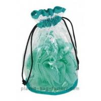 Quality Recycled Environmental Transparent Drawstring Bag OEM / ODM For Shampoo Package for sale