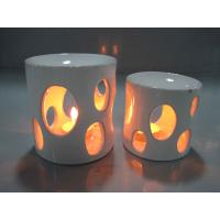 Buy White Arabian Household Ceramics Porcelain Oil Burner With Candle 8.5 X 8.5 X 10.5 Cm at wholesale prices