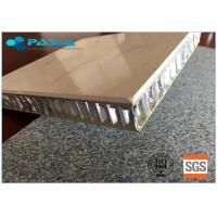 Quality 600 X 600 Mm Size Honeycomb Stone Panels Improved Anti - Pollution Ability for sale