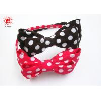 Buy cheap Fabric Dot Bowknot And Plastic Bow Hair Bands Korean Style Rose Brown from wholesalers