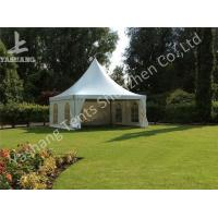 Buy cheap Hard Aluminum Framed Wind Resistance High Peak Tents Soft Pvc Fabric Cover from wholesalers