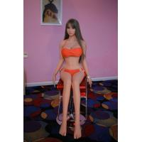 Quality 3D real life 165cm full size solid adult silicone sex doll for men with Metal skeleton for sale