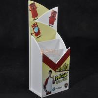 Buy 2 Tiers White PMMA Acrylic Brochure Holders Stand For Document Display at wholesale prices