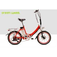 China Red Citizen Lightweight 20 Inch Folding Electric Bike 36v 250w V Brake on sale