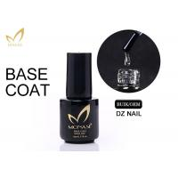 Quality 5 / 10 / 15ml UV LED Soak Off Base Coat For Gel Nails Non Toxic Low Smell for sale