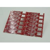 Quality Double Sided PCB Board Fabrication Red Solder Mask PCB PD Free HASL Finish for sale