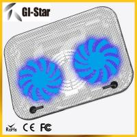Quality Two fans ABS+metal materials laptop coolers, notebook cooling pad for sale