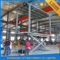 Quality 5T 3M In Floor Scissor Type Car Double Layer Lift / Garage Car Lift System for sale