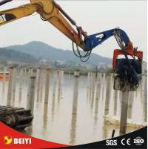 Quality Beiyi Bridge pile foundation excavator hydraulic vibro hammer for sale