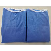 Quality Anti Dust Blue Disposable Hospital Gowns , Safety Protective Clothing for sale
