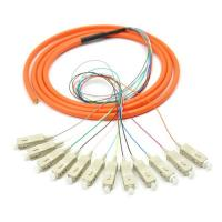 China Singlemode ST LC optical fiber patch cord cables with CE / ROHS Approval on sale