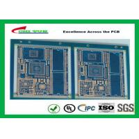 Quality Blue Solder Mask GPS PCB 6 Layer FR4TG150 1.6MM Immersion Gold Half Holes for sale