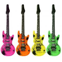 Quality EN71 Certificated Blow Up Guitars , Inflatable Carnival Toys For Music Theme Party for sale