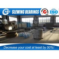 China Industrial Crane Slewing Bearing , Large Turntable Bearings Lazy Susan on sale