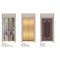 Quality Large Elevator Replacement Parts ,  Lift Car Door With Mirror Etching Golden Hairline for sale