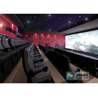 Quality 4D Red / Black Movie Theater With Motion 3 DOF Chair And Special Effect In Hall for sale