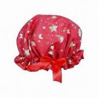 Quality PE shower/bath cap with waterproof feature for sale