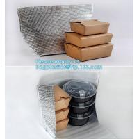Quality Reusable Aluminium Foil Lunch Food Delivery Non Woven Insulated Thermal Cooler Bag,hot food delivery Use Aluminum Foil i for sale