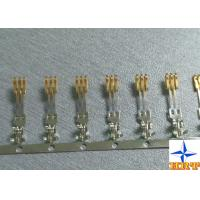 Buy brass material Gold - Plated Signal Wire To PCB crimp Connectors terminals with 1.27mm Ptich at wholesale prices