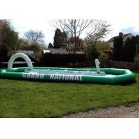 Quality Grand National Children / Adult Inflatable Interactive Games With Enclosed Race Track for sale