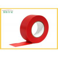 Red Stucco Masking Tape Uv Resistant Polyethylene Tape Outdoor Use for sale