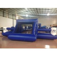 Quality Outdoor Funny Inflatable Football Games Digital Printing dark blue customized inflatable football area for sale