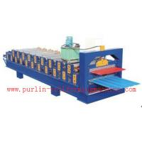 Quality Standing Seam Roof Panel Roll Forming Machine / Corrugated Rolling Forming Line for sale