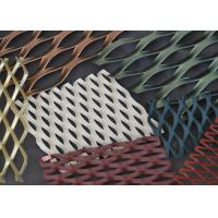 China Decorative Aluminum Expanded Metal Mesh Woven Facade Cladding 4-100mm LWD on sale
