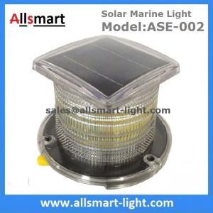 Quality 15LED Solar Marine Aquaculture Lights ASE-002 Buoys Navigation Hazard Warning Lights Flash Steady Type Solar Dock Light for sale