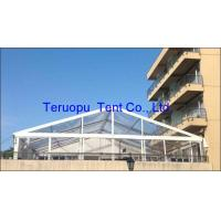 15X40m Glass Marquee Tent With Transparent Roof Cover For Wedding Event for sale