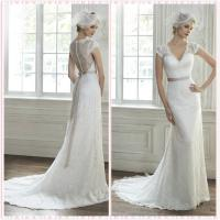 Quality Low Back Straps Lace wedding dress #5MR102 for sale