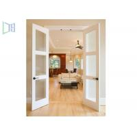 Buy cheap Double Glazing Frosted Glass Aluminium Material Hinged Swing Door for Washroom from wholesalers