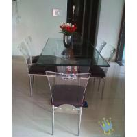 Quality acrylic breakfast bar and stools set for sale