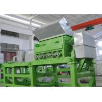 Quality Double Shaft Waste Tyre Recycling Machine , Used Tire Shredder Equipment With SKF Bearing for sale