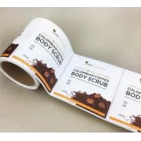 Quality Round Shape Synthetic Paper Sticker Blank Printing With Customized Size for sale