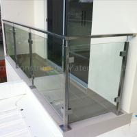 Buy cheap Hot selling glass handrail brackets/decking glass railing made in China from wholesalers