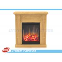 Quality Solid Wood Veneer MDF Home Decor Fireplaces With Paint Finished / 905mm * 255mm * 970mm for sale