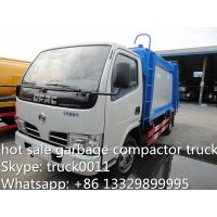 Buy hot sale small garbage compactor truck, 4cbm dongfeng refuse garbage truck, at wholesale prices