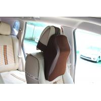Quality Leather Surface Car Back Support Pillow With Easy Removable And Washable Cover for sale