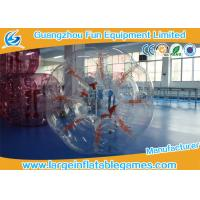 Quality Clear 1.5M Conventional Human Bumper Bubble Ball High Temperature Welding for sale