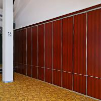 Quality Polyester Construction Material Hanging System Sound Proof Curtain Partition Walls For Hotel for sale