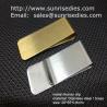 Classic cash money clip credit card holder, custom brushed brass cash money clips for sale